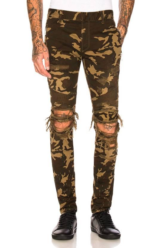 Balmain Size 36 - Heavily Distressed Camo Biker Jeans - FW17 - RARE Size US 36 / EU 52 - 19