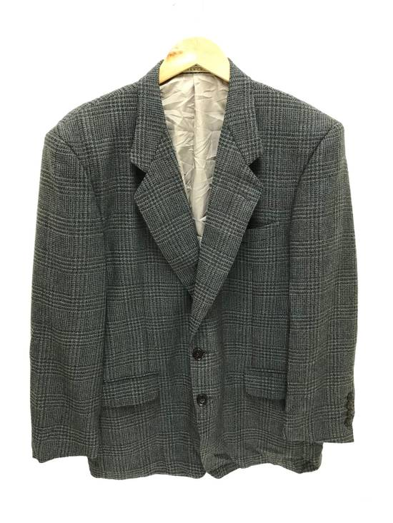 Givenchy Monsieur Givenchy Wool Blazer Tartan Plaid Vintage Size 44R