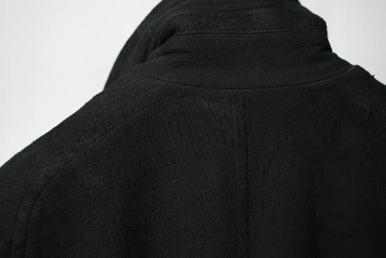 Julius AW12 Black Destroyed Lamb Jutneck Leather Jacket Size US M / EU 48-50 / 2 - 3