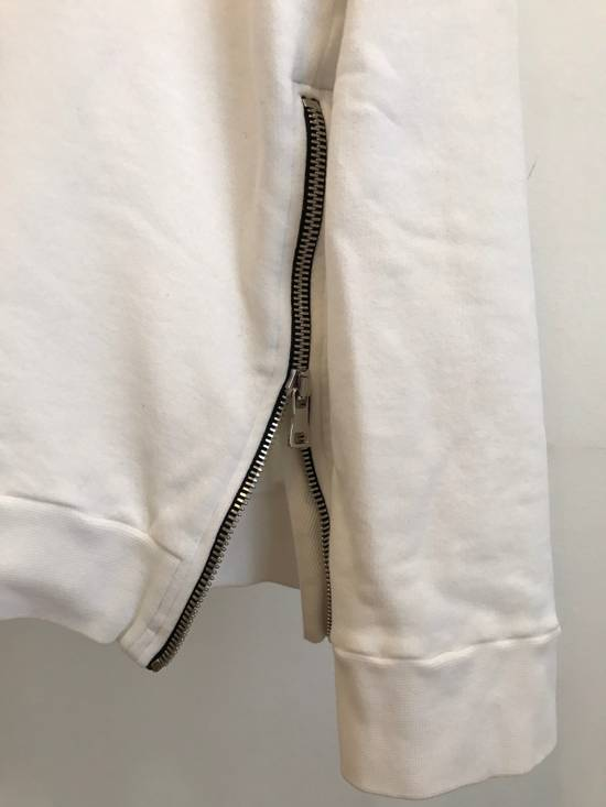 Balmain WHITE COTTON ZIP HOODY Size US XL / EU 56 / 4 - 2