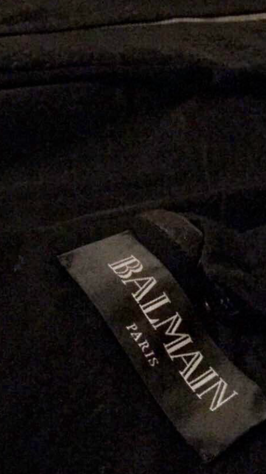 Balmain Balmain Black Leather Collared Biker Jacket Size US M / EU 48-50 / 2 - 6