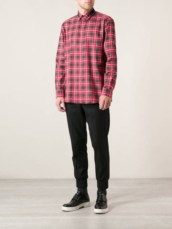 Givenchy Givenchy Red Plaid Flannel Shirt Size US XL / EU 56 / 4 - 2