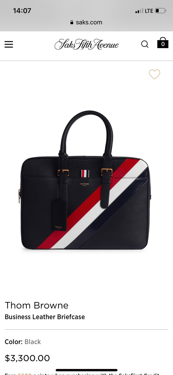 Thom Browne pebble striped briefcase Size ONE SIZE - 9