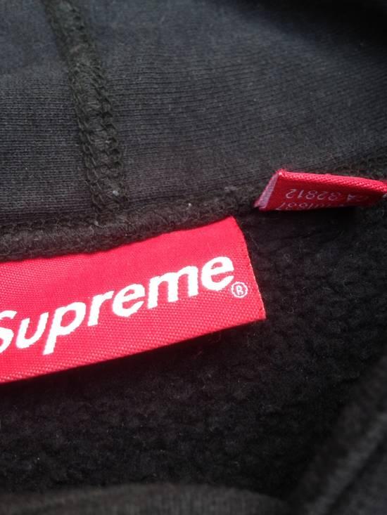 Supreme Supreme Leather Script Studded Hoodie Size US L / EU 52-54 / 3 - 2