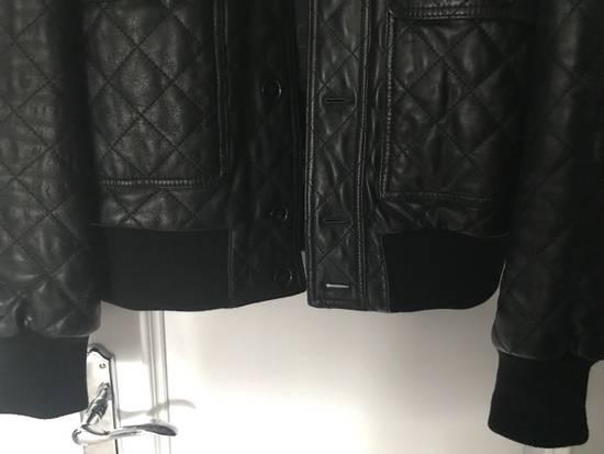 Givenchy Men's Dolce & Gabanna Quilted Leather Bomber Jacket Size 48 Size US M / EU 48-50 / 2 - 6
