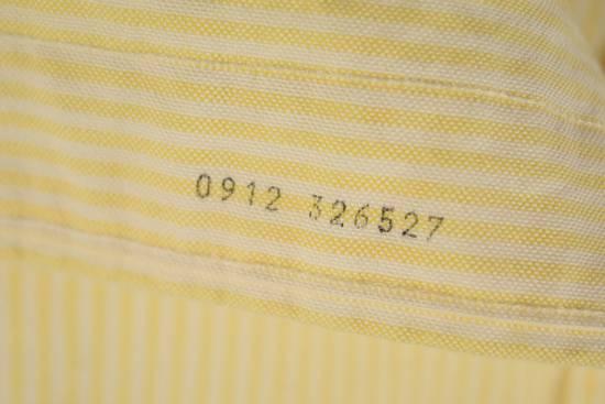 Thom Browne White Grossgrain, Yellow Stripe Oxford Size US L / EU 52-54 / 3 - 7