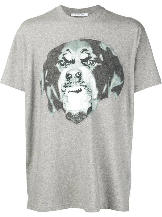 Givenchy Grey Felt Rottweiler T-shirt Size US XS / EU 42 / 0 - 1