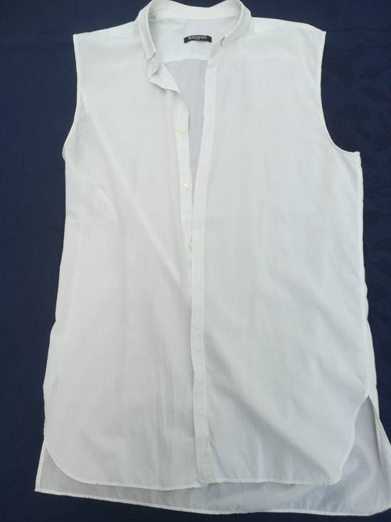 Balmain BALMAIN SHIRT sleeveless white striped like new 39/15,5 Size US M / EU 48-50 / 2
