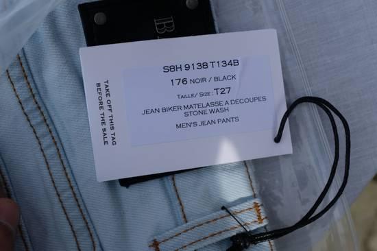 Balmain Light Blue Biker Jeans Size US 27 - 10