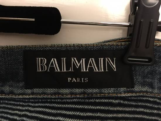 Balmain Brand New Washed Biker Jeans Size US 31 - 5