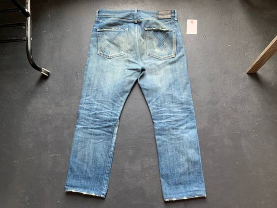 Original Fake OriginalFake KAWS 2012 Damaged Denim Pants Size US 33 - 2