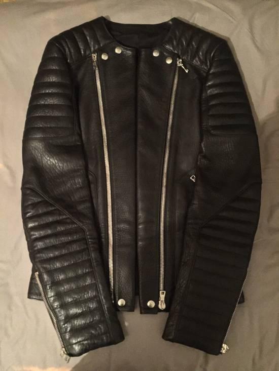 Balmain Leather Biker Jacket Lambskin Original SS12 Brand New Size US M / EU 48-50 / 2 - 8