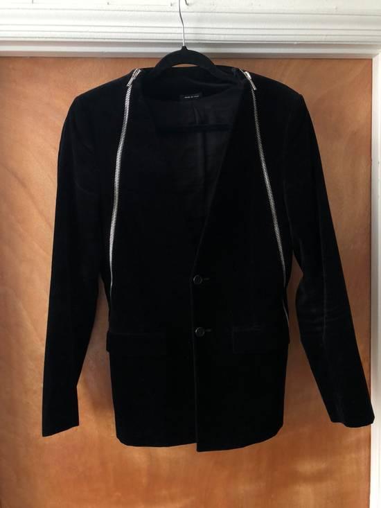 Givenchy Givenchy FW11 Black Velvet Zip Blazer Size 38R