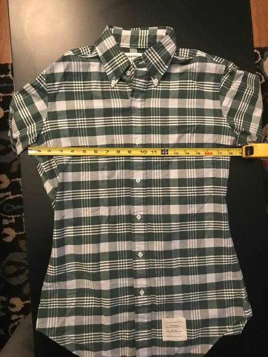 Thom Browne Long Sleeve Green Plaid Woven Shirt Size US XS / EU 42 / 0 - 4