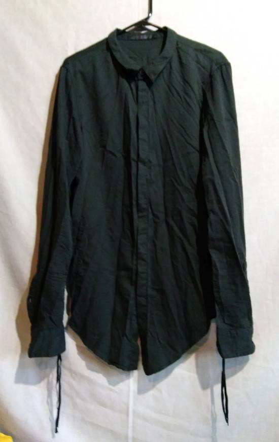 Julius Black Button Down Shirt Cotton/Silk ss10 Size US L / EU 52-54 / 3