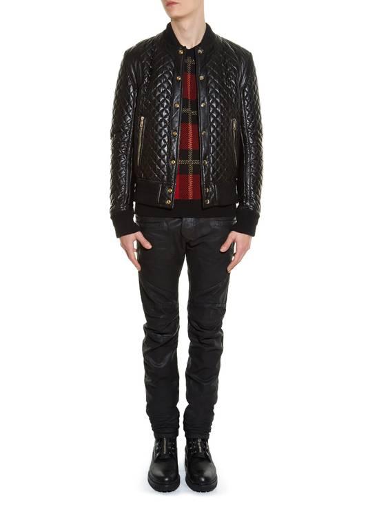Balmain Balmain Quilted Leather Bomber Varsity Jacket Size 50 Black FW16/17 Brand New $5245 Size US M / EU 48-50 / 2 - 3