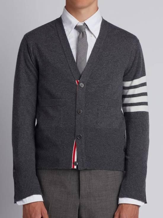 Thom Browne Classic grey cashmere cardigan Size US XXL / EU 58 / 5