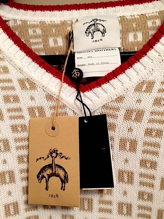 Thom Browne Insigna V-Neck Sweater with Patches Size US XL / EU 56 / 4 - 2