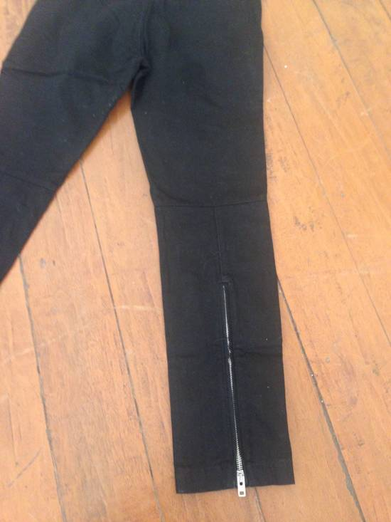 Givenchy Black Leather-patched Biker Jeans Size US 31 - 3