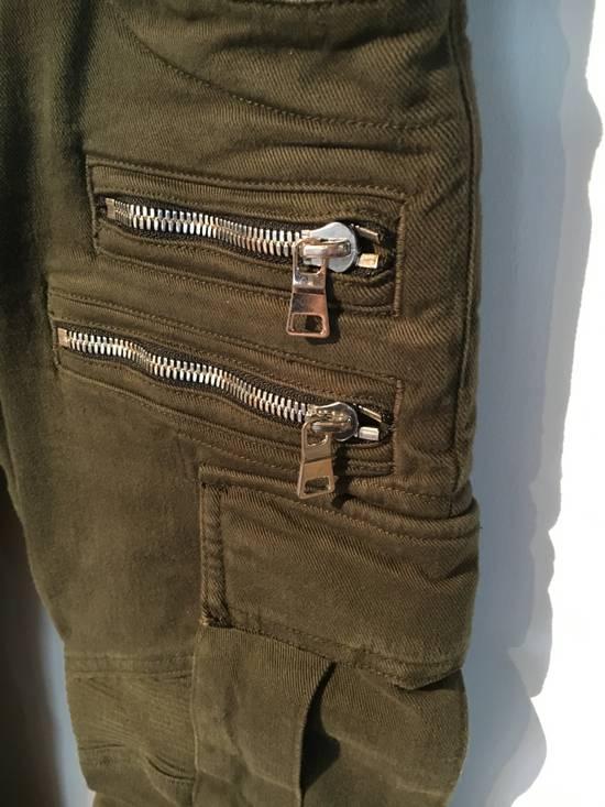 Balmain Balmain Cargo Green Biker Jeans Size US 31 - 4