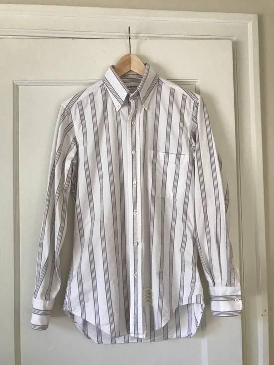 Thom Browne White Burgandy Stripe Oxford Size 1 Size US S / EU 44-46 / 1 - 2
