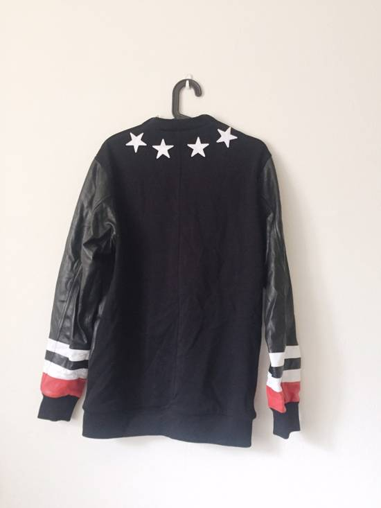 Givenchy Givenchy Star Neck Leather Shirt With Stripe Cuff Size US S / EU 44-46 / 1 - 1