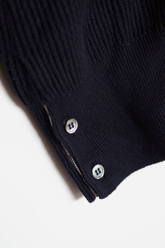 Thom Browne Blue Striped Ribbed-Knit Cotton Sweater Size US M / EU 48-50 / 2 - 3