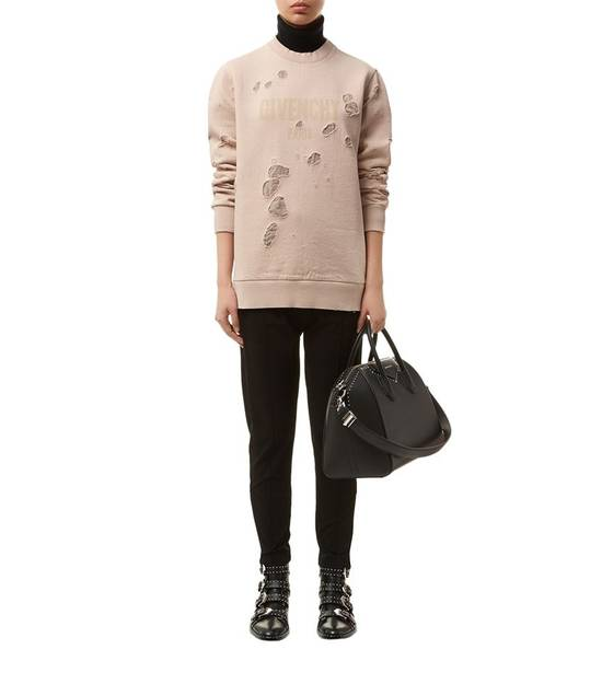 Givenchy Pink Destroyed Logo Sweater Size US XS / EU 42 / 0 - 3