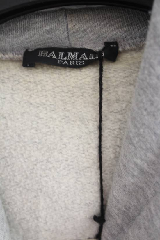 Balmain FW10 Decarnin Era Grey Mothhole Destroyed Hoodie Size US XL / EU 56 / 4 - 6