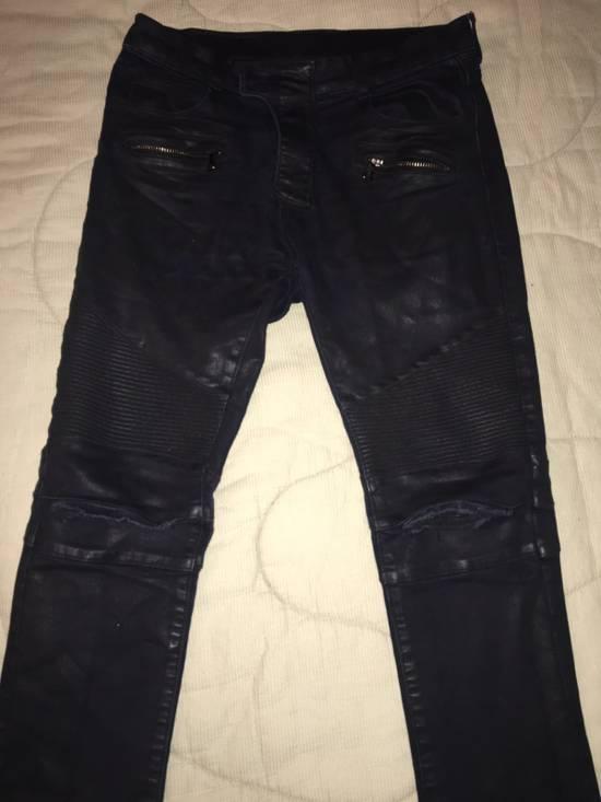 Balmain Waxed Biker Jeans Size US 30 / EU 46