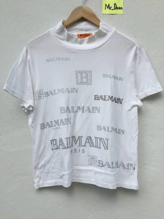 Balmain Vintage Balmain Script Logo Tshirt Size US S / EU 44-46 / 1
