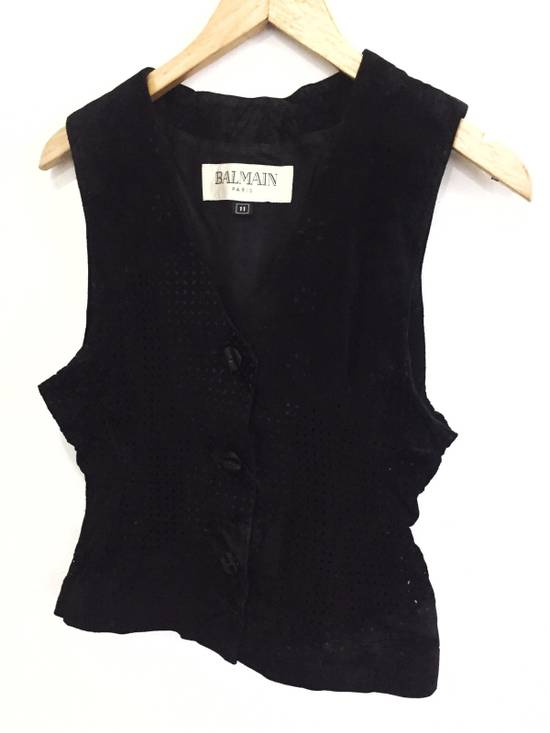Balmain [ NEED GONE TODAY ! ] Suede Button Vest Jacket Armpit 16x21.5 Size US XS / EU 42 / 0 - 2