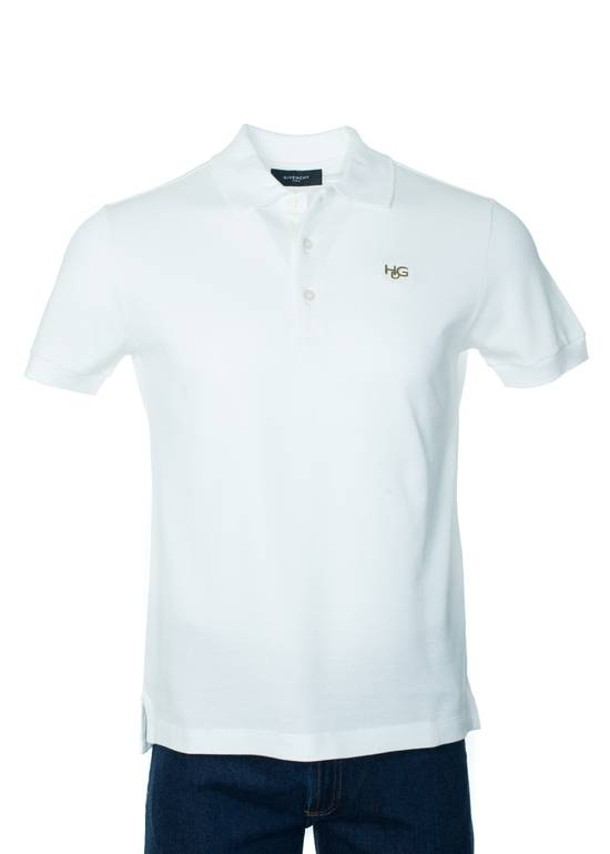 Givenchy Givenchy Men's Solid White Short Sleeve Polo Shirt Size US S / EU 44-46 / 1