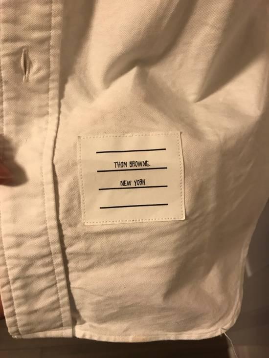 Thom Browne Grosgrain Armband Oxford Shirt Size US M / EU 48-50 / 2 - 3