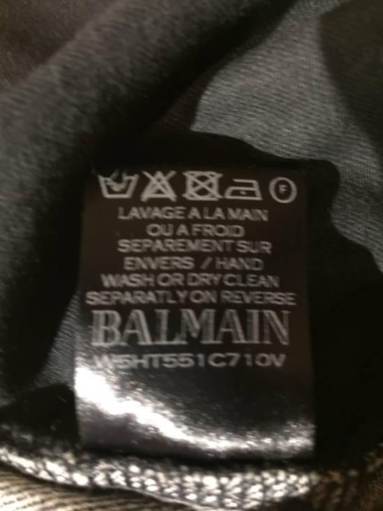 Balmain Black Distressed Biker Jeans Size US 33 - 3