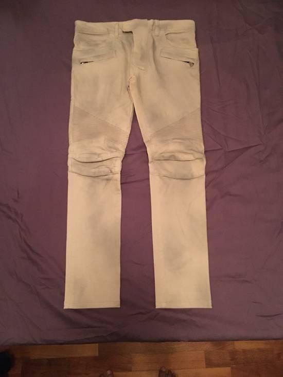 Balmain Biker Cotton Pants Size US 29 - 1