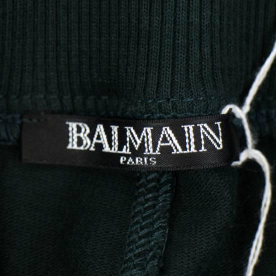 Balmain Men's Green Cotton Leggings Biker Pants Size XL Size US 38 / EU 54 - 5