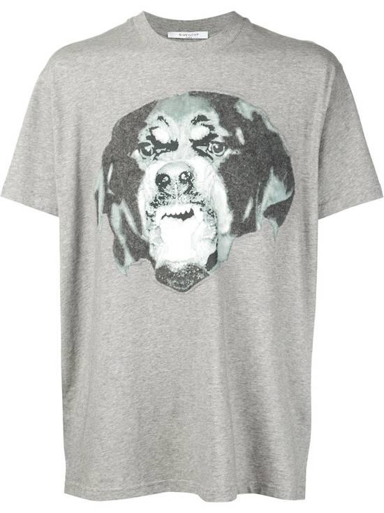 Givenchy Grey Felt Rottweiler T-shirt Size US XXS / EU 40 - 1