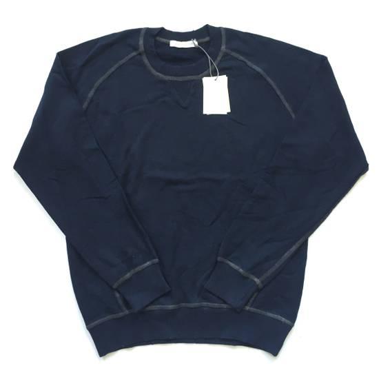 Balmain Distressed Navy French Terry Sweatshirt NWT Size US XL / EU 56 / 4