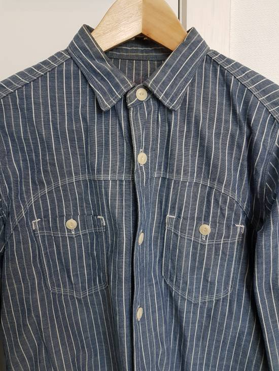 Sunny Sports Striped vented chambray work shirt Size US XS / EU 42 / 0
