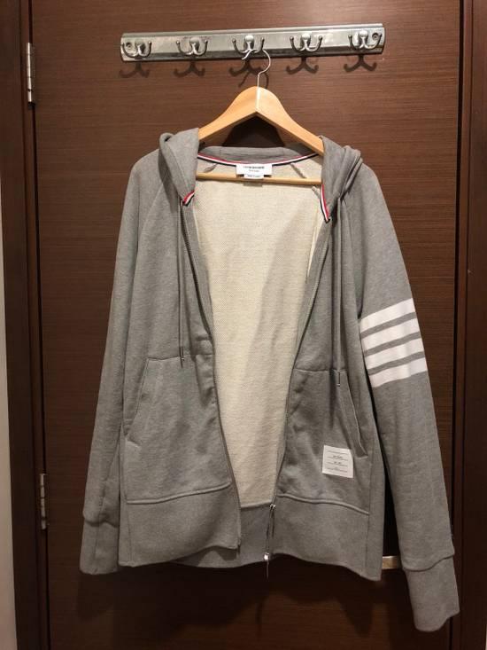 Thom Browne Striped Jersey Zip Up Hoodie Size US L / EU 52-54 / 3