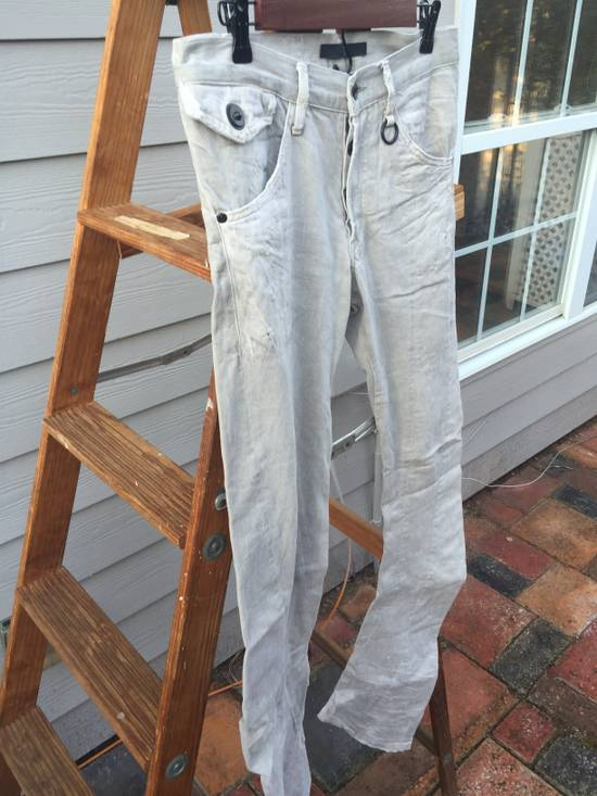 Julius SS09 Distressed J Cut Plaster Denim Size US 30 / EU 46 - 3