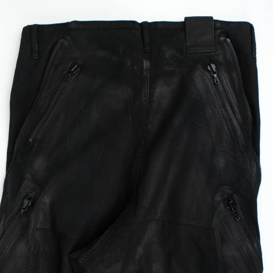 Julius 7 Black 'Coated Denim Stretch Zip Pocket' Baggy Jeans Pants 3/M Size US 34 / EU 50 - 4