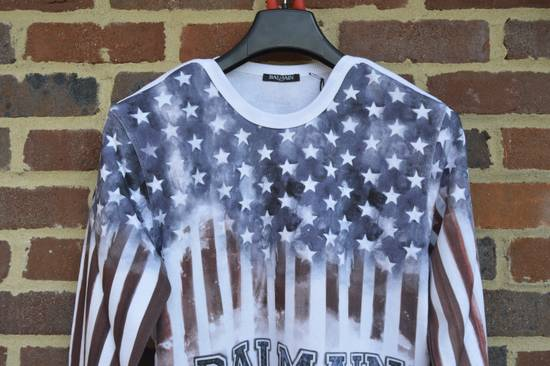 Balmain Flag and Logo Print Sweater Size US L / EU 52-54 / 3 - 4