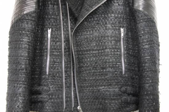 Givenchy $8k AW13 Givenchy Black Tweed & Leather Biker Jacket Size 48 Size US M / EU 48-50 / 2 - 3