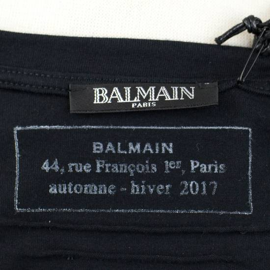 Balmain Black Lion Embroidered Long Sleeve Crewneck T-Shirt M Size US M / EU 48-50 / 2 - 5