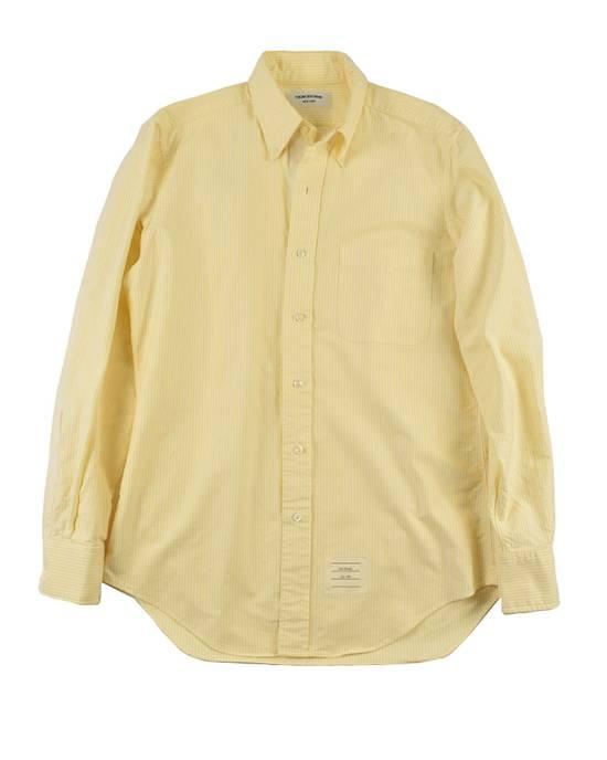 Thom Browne White Grossgrain, Yellow Stripe Oxford Size US L / EU 52-54 / 3