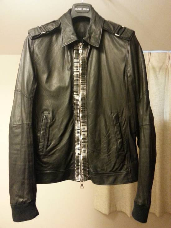 Balmain Safety Pin Leather Biker Jacke Size US M / EU 48-50 / 2 - 7