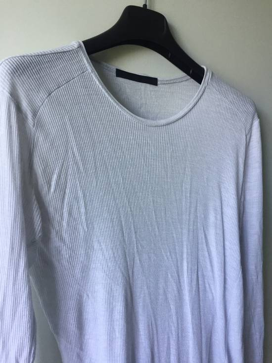 Julius Elongated White Ribbed Longsleeve Size US S / EU 44-46 / 1 - 1