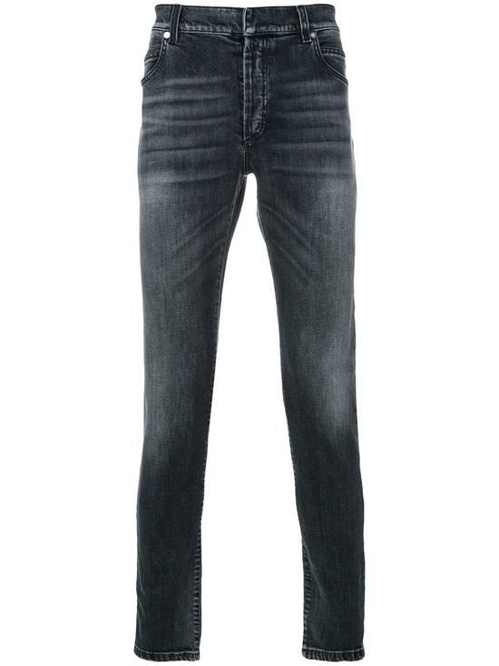 Balmain Black Stonewashed Jeans Size US 30 / EU 46 - 1